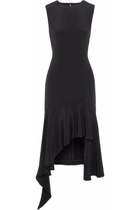 GOEN.J Open-back asymmetric silk-cady midi dress