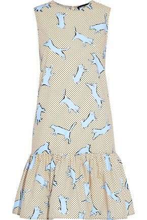 MARKUS LUPFER Printed cotton-poplin mini dress