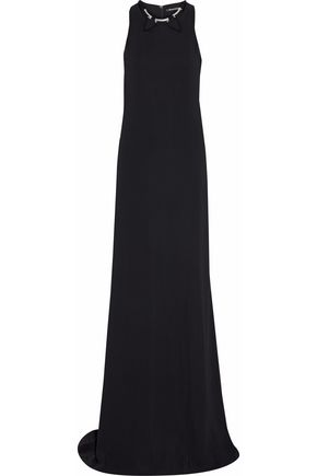 ROBERTO CAVALLI Cutout embellished crepe gown