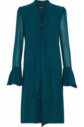 ROBERTO CAVALLI Tie-front silk-georgette dress
