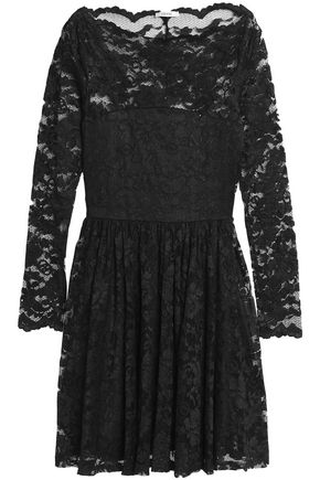 GANNI Pleated lace dress