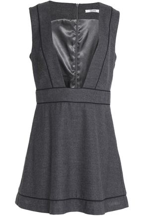 GANNI Wool and cashmere-blend mini dress