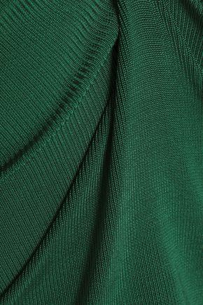 GANNI Cold-shoulder stretch-knit top