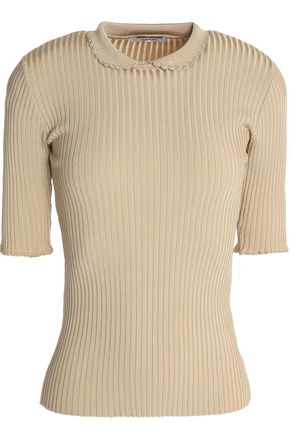 GANNI Ribbed-knit top