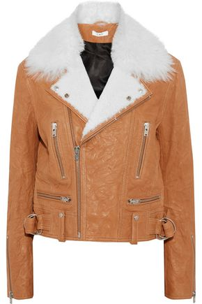 IRO Textured-leather biker jacket