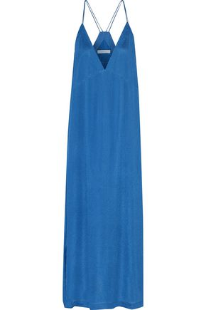 IRO Eziane metallic crepe midi dress