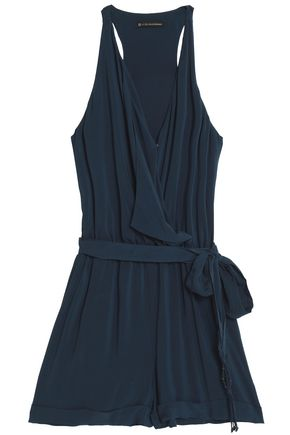 VIX PAULAHERMANNY Wrap-effect crepe playsuit