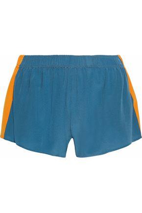 STELLA McCARTNEY Paneled silk crepe de chine shorts