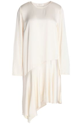 ZIMMERMANN Asymmetric draped satin dress