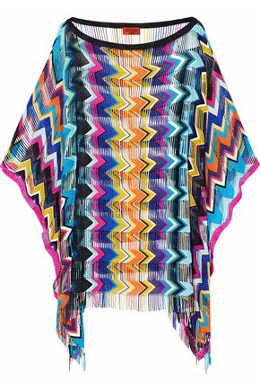 MISSONI Mare fringe-trimmed crochet-knit coverup