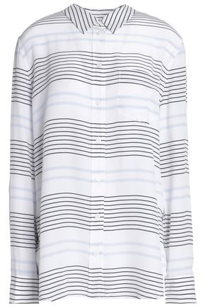 EQUIPMENT Striped silk-crepe de chine shirt