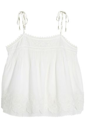 JOIE Embroidered cotton top