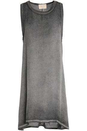 ALICE + OLIVIA Asymmetric faded silk-jersey mini dress