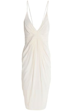 ZIMMERMANN Pleated silk-crepe dress