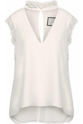 ALEXIS Ruffle-trimmed silk-chiffon blouse