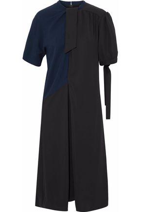 MAISON MARGIELA Faille-paneled two-tone crepe dress