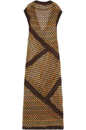 MISSONI Flocked crochet-knit dress