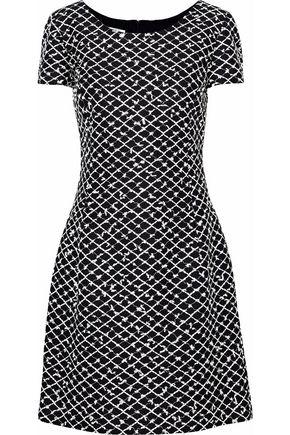 OSCAR DE LA RENTA Embroidered woven dress