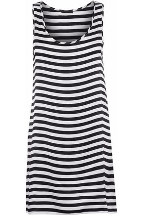 R13 Striped silk crepe de chine mini dress