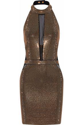 BALMAIN Embellised tulle mini dress