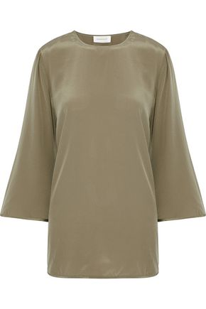 ZIMMERMANN Washed silk crepe de chine top