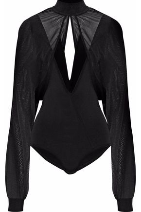 BALMAIN Layered knitted bodysuit