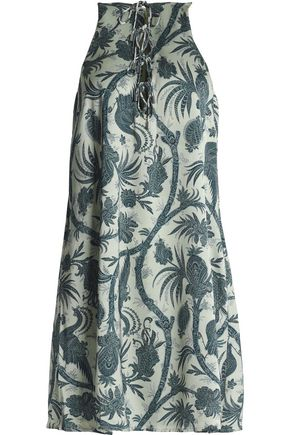 ZIMMERMANN Printed crepe mini dress