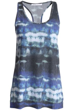 YUMMIE by HEATHER THOMSON Tie-dyed stretch-jersey tank
