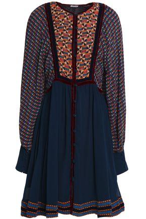 TALITHA Printed silk-georgette mini dress
