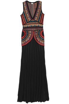 TALITHA Intarsia-knit maxi dress