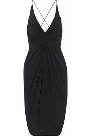ZIMMERMANN Pleated silk-crepe dress
