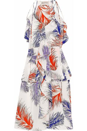 EMILIO PUCCI Ruffled printed silk crepe de chine dress