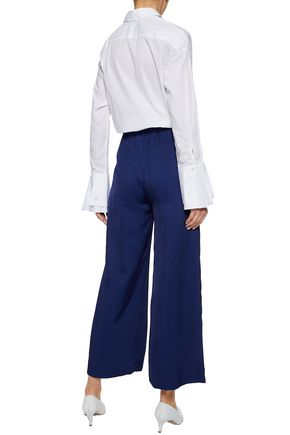 IRIS & INK Lucille stretch-cotton poplin shirt
