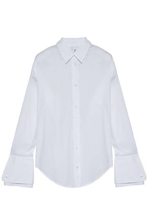 IRIS AND INK Lucille stretch cotton-poplin shirt