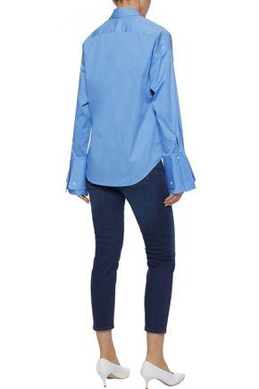 IRIS & INK Lucille cotton-blend poplin shirt