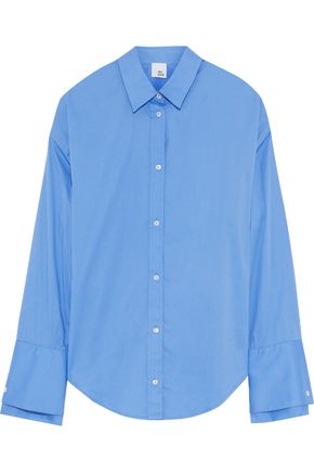 IRIS & INK Cotton-blend poplin shirt