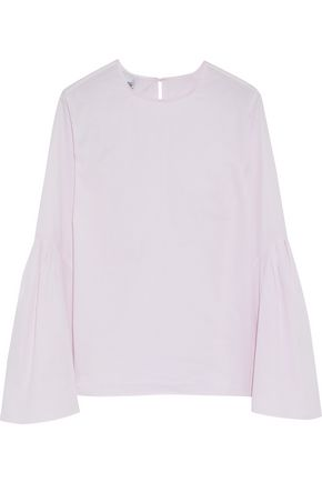 IRIS & INK Flared cotton-poplin top