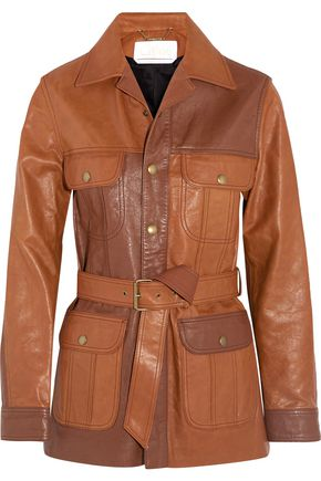 CHLOÉ Belted leather jacket