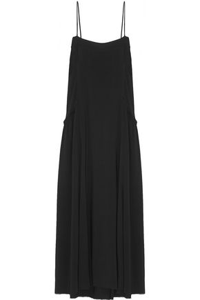 HELMUT LANG Twill midi dress