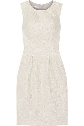 OSCAR DE LA RENTA Metallic silk-blend dress