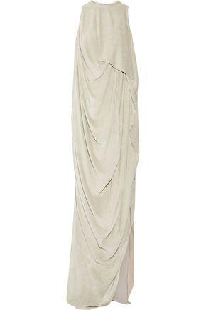 RICK OWENS Draped velvet gown