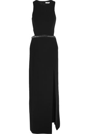 MUGLER Cutout embellished crepe gown