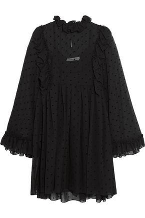SEE BY CHLOÉ Ruffle-trimmed flocked chiffon mini dress