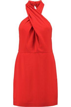 HALSTON HERITAGE Twisted crepe mini dress
