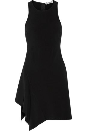 ELIZABETH AND JAMES Hattie asymmetric ruffled cady mini dress