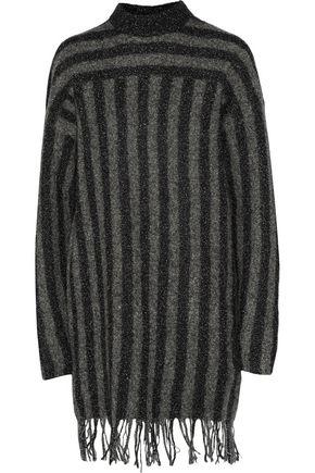 T by ALEXANDER WANG Striped boiled merino wool-blend sweater dress