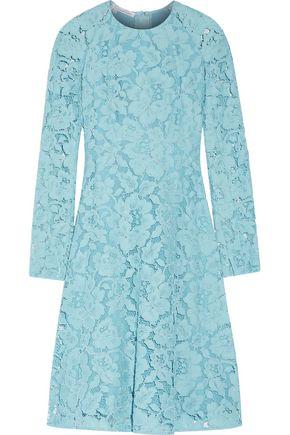 OSCAR DE LA RENTA Broderie anglaise cotton-blend dress