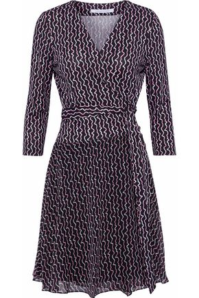 DIANE VON FURSTENBERG Irina printed silk wrap mini dress