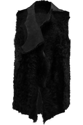 KARL DONOGHUE Alpine draped shearling gilet