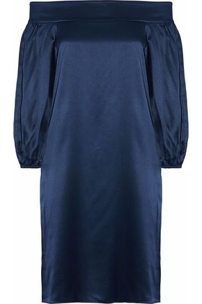 TIBI Off-the-shoulder silk-satin dress